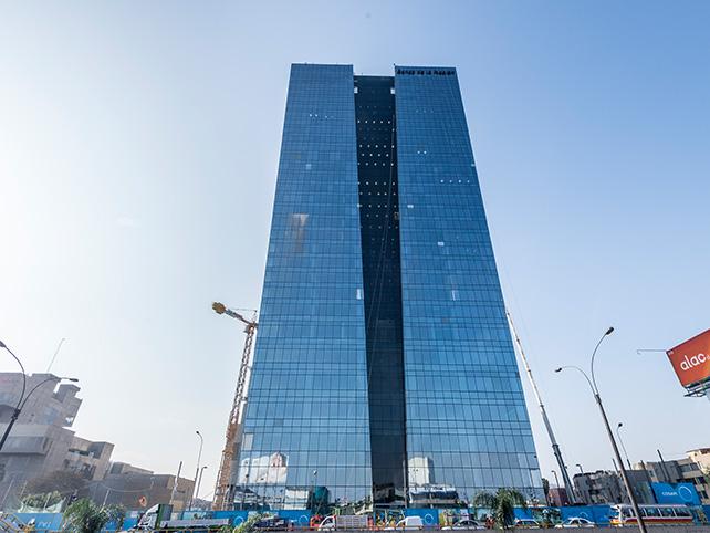 Vital for your Resident Visa. Banco de la Nación's new headquarters on Javier Prado. Credit: COSAPI